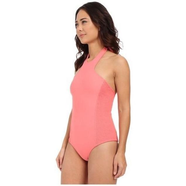 Tori Praver Rosarito Full Coverage Swimsuit One Piece Hibiscus SIZE XS