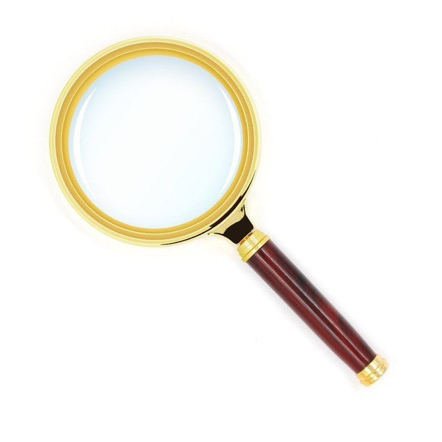 10X Antique Mahogany Handle Magnifier Reading Magnifying Glass for Reading
