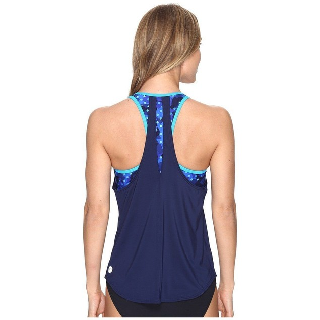 TYR Womens Cadet Solay 2 In 1 Tank, 472 Royal Navy, SIZE SMALL (4/6)