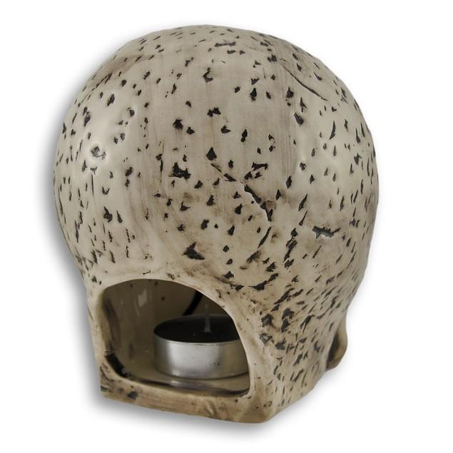 Grinning And Missing Teeth Ceramic Skull Tea Light Tea Light Holders