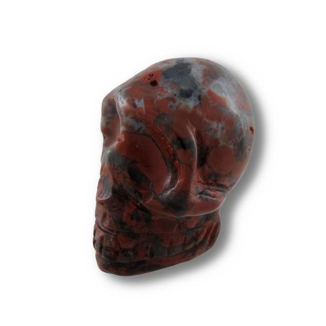 Beautiful Carved Brecciated Jasper Gemstone Skull Loose Gemstones