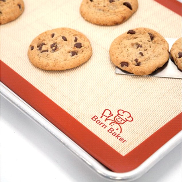 Born Baker Premium Non-Stick Silicone Cookie Sheet Bake Mats(Set of 2)
