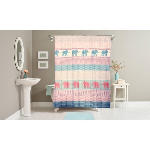 14 Piece Bath Set with Shower Curtain and Bath Rug