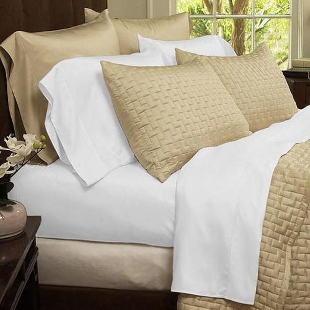 4-Piece Set: Luxury Home Ultra-Soft Bamboo-Blend Sheets