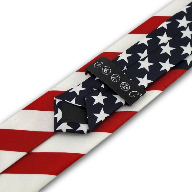 U.S. American Flag Necktie Usa Mens Neckties