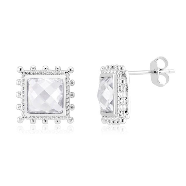 Crystal Halo Stud Earrings