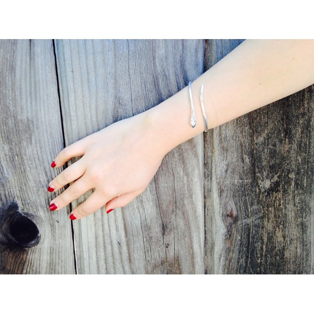 Brooke Silver Tone Wrap Bangle Bracelet