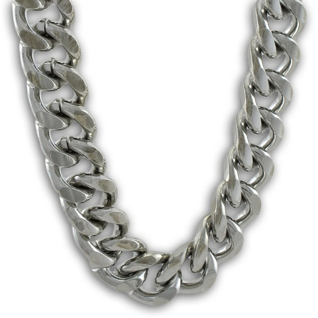 Heavy Silver Finish Link Wallet Jeans Chain Mens Wallet Chains