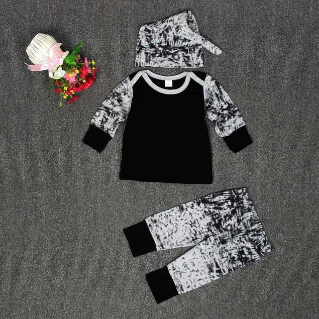 Baby Long Sleeve T-Shirt, Long Pants, and Hat Set