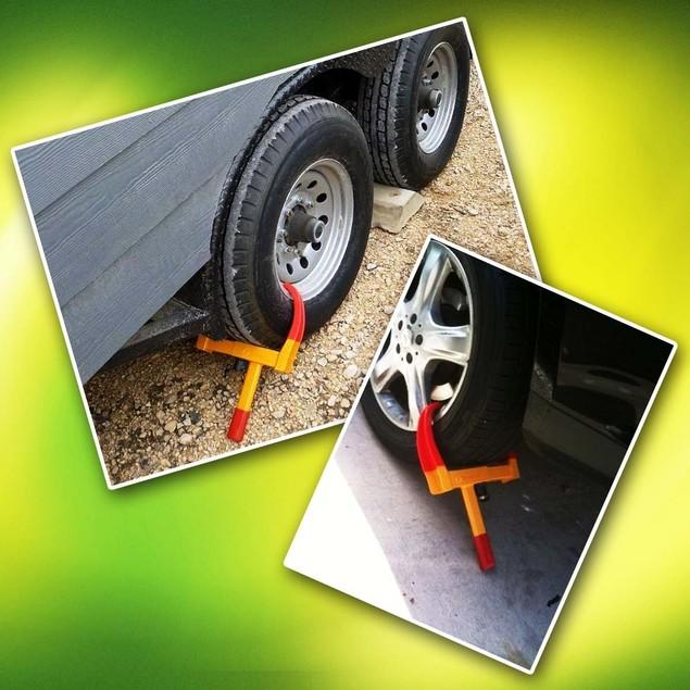 Zone Tech Heavy Duty Anti Theft Protective Car Wheel Lock