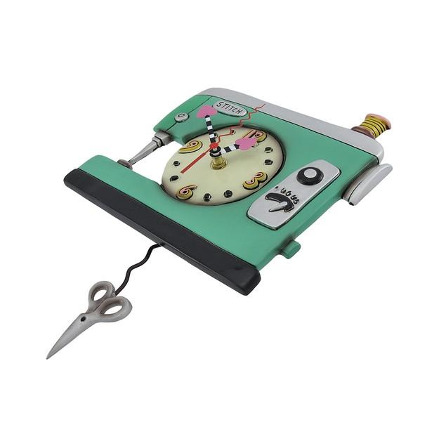 Allen Designs Stitch Sewing Machine Pendulum Wall Wall Clocks