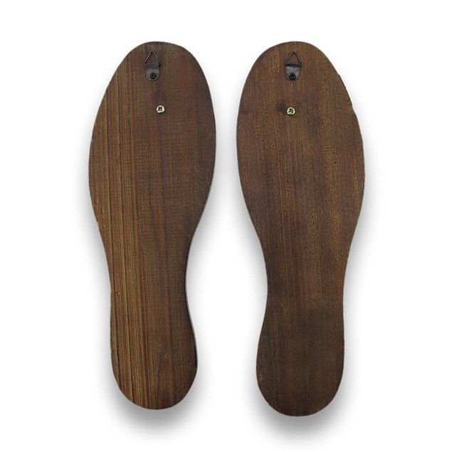 Distressed Finish Antique White Wooden Shoe Sole Decorative Wall Hooks