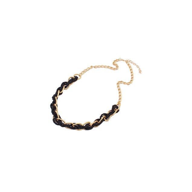 Interwoven Statement Necklace - Black