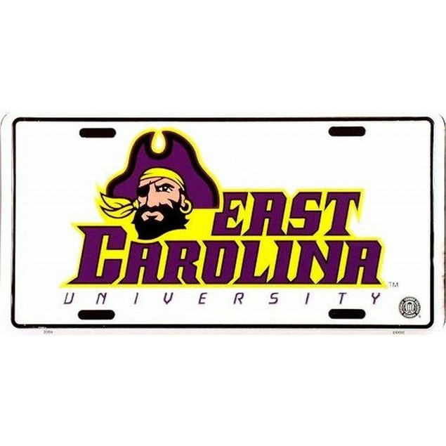 East Carolina Pirates NCAA License Plate