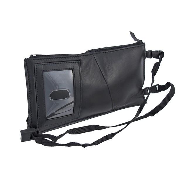 Black Leather Neck Strap Passport Holder Travel Passport Holders