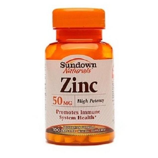 Sundown Naturals Zinc 50mg Caplets Vegetarian Formula