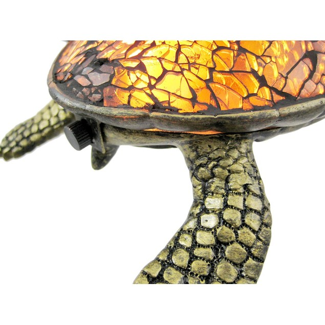 Cute Mosaic Amber Glass Sea Turtle Accent Lamp Accent Lamps