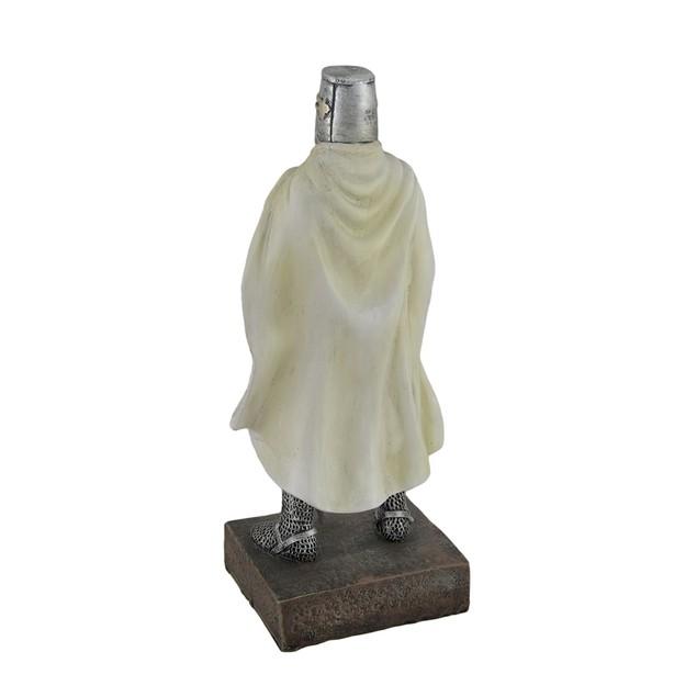 Medieval Templar Knight In Battle Holding Sword Statues