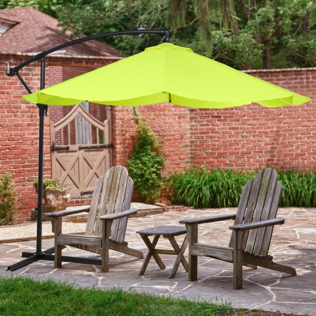 Pure Garden Offset 10-Foot Aluminum Hanging Patio Umbrella