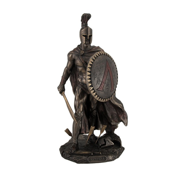 Spartan King Leonidas With Sword And Shield Statues