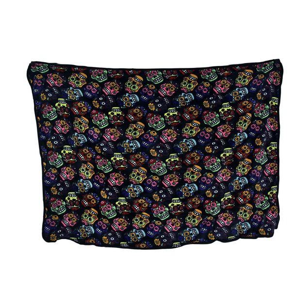 Colorful Multi Sugar Skull Plush Throw Blanket 50 Throw Blankets