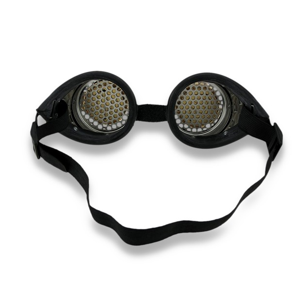 Steampunk Binocular Decorative Goggles W/ Copper Mens Costume Headwear And