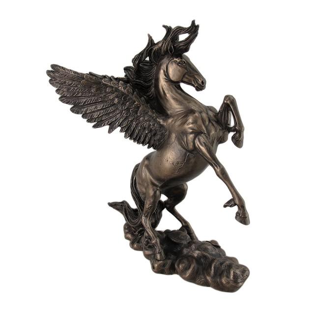 Bronzed Finish Winged Horse Pegasus Statue Amazing Statues