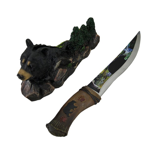 Blade Of The Bear Rustic Black Bear Decorated Letter Openers