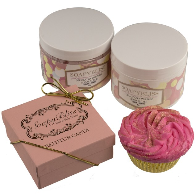 Soapy Bliss Bath Bundle, 4-Piece Set