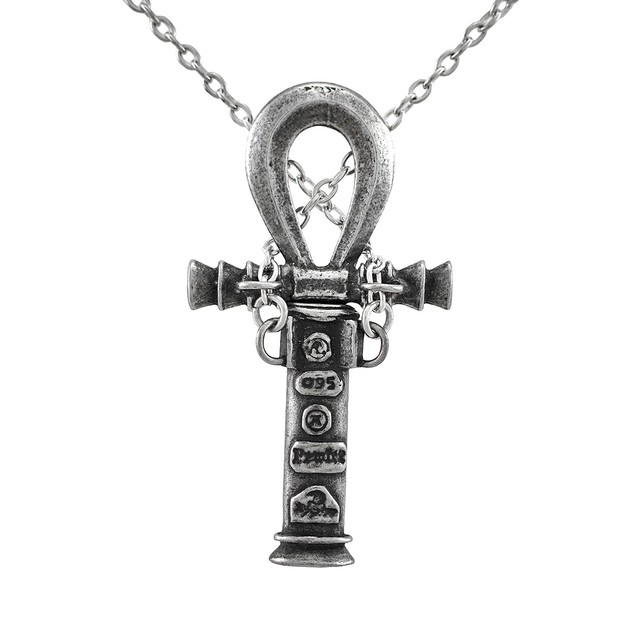 Alchemy Gothic Ankh Of The Dead Concealed Dagger Womens Pendant Necklaces