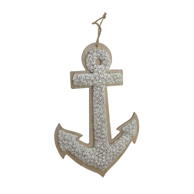 Sand Finish Starfish Textured Nautical Anchor Wall Wall Sculptures