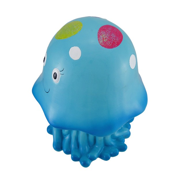 Joyful Blue Jellyfish Whimsical Childrens Coin Toy Banks