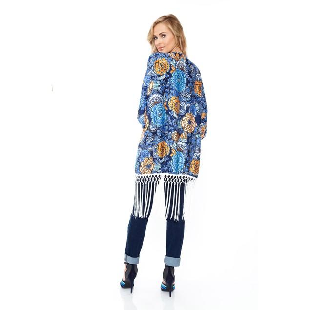 Bohemian Fringed Kimono - 3 Prints