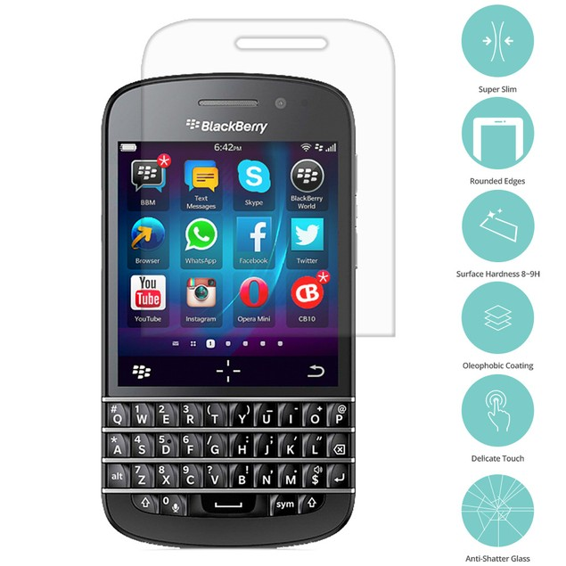 BlackBerry Q20 Tempered Glass Film Screen Protector Clear