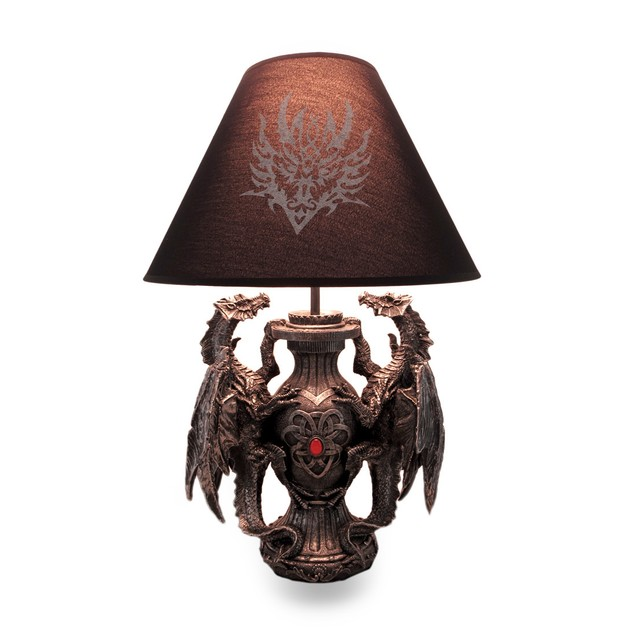 Gothic Guardians Of Light Medieval Dragons Table Table Lamps