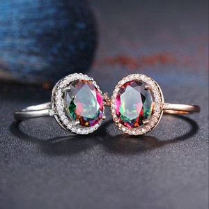 Cubic zirconia Multi Color Rings