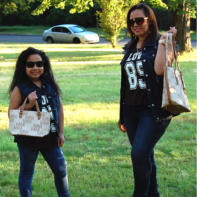MKF Collection Corinna Mommy & Me M Signature Totes