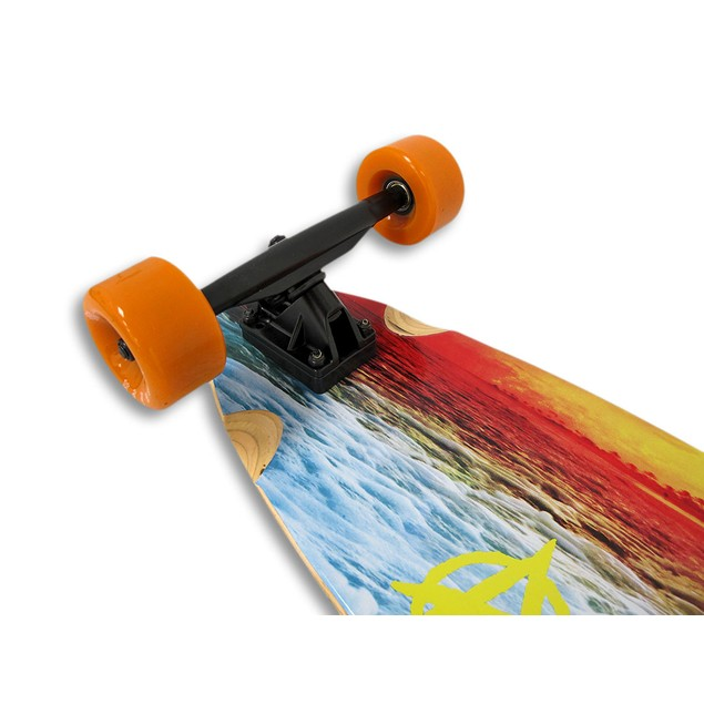 42 Inch Complete Cruiser Kicktail Longboard With Longboard Skateboards