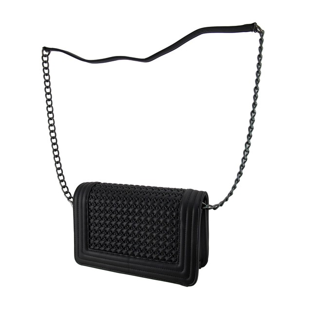 Textured Crossed Basket Weave Structured Shoulder Womens Shoulder Handbags