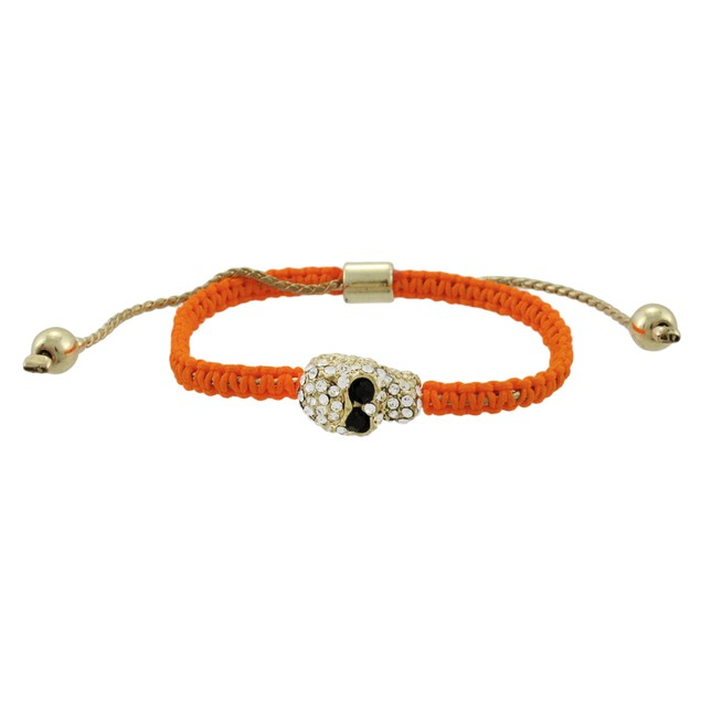 Bright Orange Woven Cord Adjustable Bracelet W/ Womens Cord Bracelets