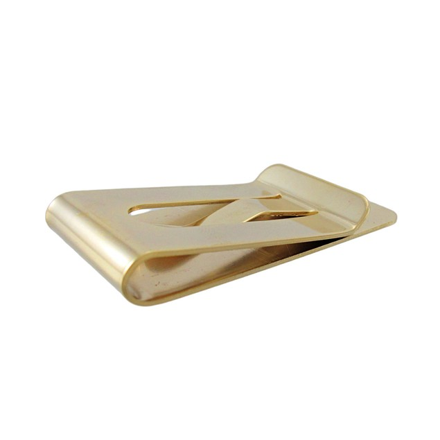 Gold Plated Square And Compass Masonic Symbol Mens Money Clips