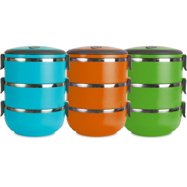 3 Compartment Stainless Steel Vacuum Sealed Lunch Box