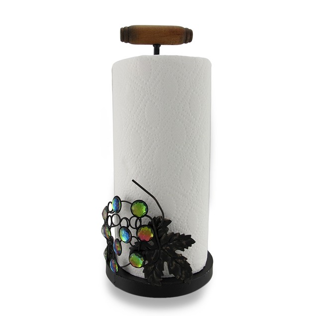 Corkscrew And Sparkling Grapes Metal Paper Towel Paper Towel Holders
