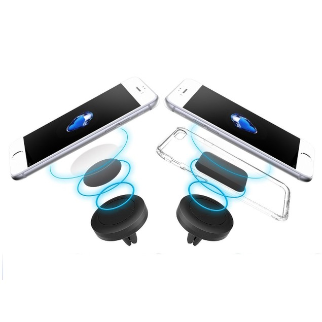 2-Pack Magnetic Phone Holder Mount for iPhone Android and GPS Devices