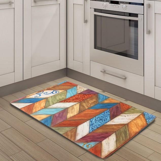 """Nicole Miller Oversized 20"""" x 39"""" Anti-Fatigue Embossed Floor Mat"""