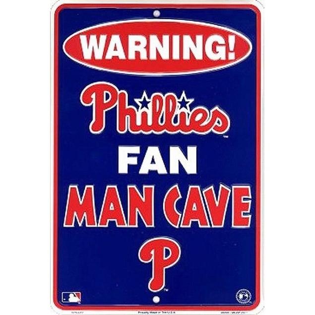 Philadelphia Phillies MLB Fan Man Cave Parking Sign