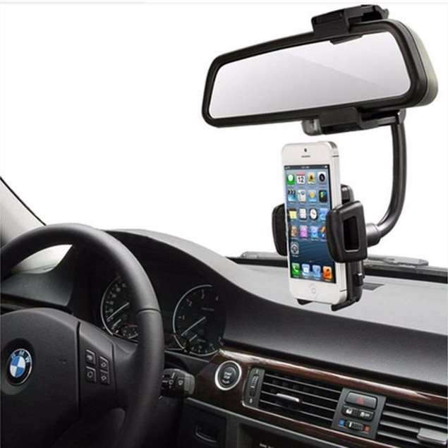 Car Rearview Mirror Mount Holder Stand For Cell Phone