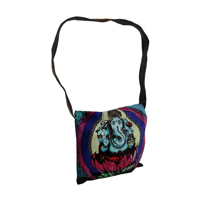 Colorful Ganesha Stonewashed Denim Messenger Bag Womens Messenger Bags
