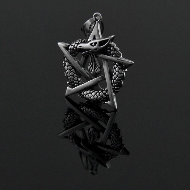 Ouroborous Dragon Totem Pendant For Good Health Pendants
