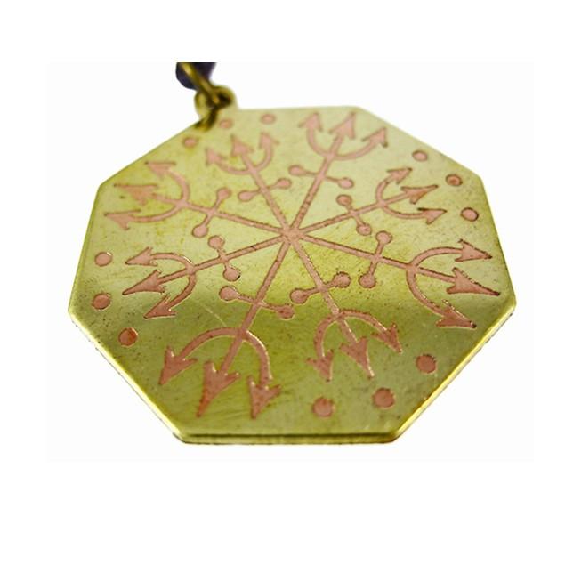 Voodoo Loa-Eshu Protection Charm Pendant Santeria Mens Pendant Necklaces